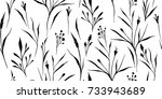 simple wild grass background.... | Shutterstock .eps vector #733943689