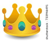 crown emoji icon object symbol... | Shutterstock .eps vector #733946491