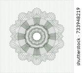 green passport rossete | Shutterstock .eps vector #733948219