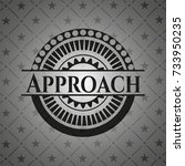 approach black badge | Shutterstock .eps vector #733950235
