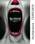 scary clown scream freak... | Shutterstock .eps vector #733951819