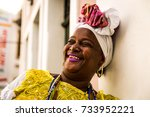 brazilian woman of african... | Shutterstock . vector #733952221