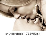 happy young couple in love | Shutterstock . vector #73395364