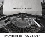 everyone has a story typed... | Shutterstock . vector #733955764