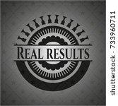 real results dark emblem   Shutterstock .eps vector #733960711