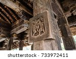 splendid ancient woodcarvings... | Shutterstock . vector #733972411