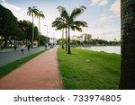 Small photo of Joao Pessoa, Paraiba, Brazil - September 30, 2017 - View of Solon de Lucena Park in the center of the city of Joao Pessoa
