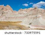 Barren Landscape In Badlands...