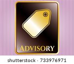 shiny emblem with tag icon and ... | Shutterstock .eps vector #733976971