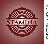 stamina red emblem | Shutterstock .eps vector #733978279