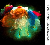 Abstract Image Of A Bouquet Of...