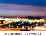 colorful of city lights and... | Shutterstock . vector #733996435