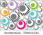 abstract geometric pattern with ... | Shutterstock .eps vector #734011231
