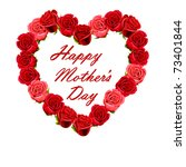 Mother\'s Day Heart Made Of Red...