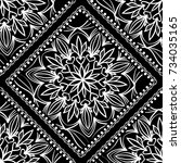 white lace seamless pattern... | Shutterstock .eps vector #734035165