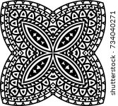 tribal tattoo design vector art ... | Shutterstock .eps vector #734040271
