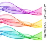 set of colorful abstract... | Shutterstock .eps vector #734062849