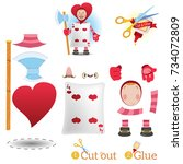 game for children  cut out and...   Shutterstock .eps vector #734072809