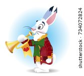 White Rabbit With A Pipe....