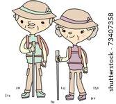 grandpa and grandma's walking... | Shutterstock .eps vector #73407358