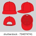 red hip hop for template | Shutterstock .eps vector #734074741