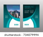 annual report brochure layout...   Shutterstock .eps vector #734079994