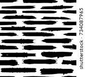 grunge paint stripe . vector... | Shutterstock .eps vector #734087965
