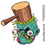 vector illustration of cartoon... | Shutterstock .eps vector #734090941