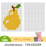 copy the picture by squares ... | Shutterstock .eps vector #734100289