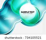 glass or plastic hi tech bubble ...   Shutterstock .eps vector #734105521