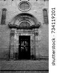 An Old Church Portal Decoratio...