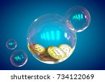 Bitcoins In A Soap Bubble On...