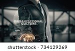 organizational culture with... | Shutterstock . vector #734129269