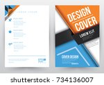 cover design vector template... | Shutterstock .eps vector #734136007