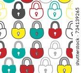 padlock | Shutterstock . vector #734139265