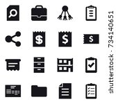 16 vector icon set   search... | Shutterstock .eps vector #734140651