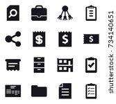 16 vector icon set   search... | Shutterstock .eps vector #734140651