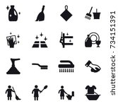 16 vector icon set   cleanser ... | Shutterstock .eps vector #734151391