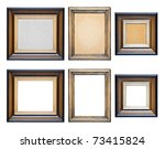 collection wooden frames... | Shutterstock . vector #73415824