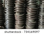 pulley. mechanic concept | Shutterstock . vector #734169097