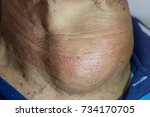 zooming close up frontal or... | Shutterstock . vector #734170705