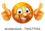 Cartoon Basketball Ball Man...