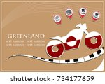 motorcycle logo made from the... | Shutterstock .eps vector #734177659