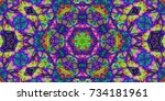 psychedelic background.... | Shutterstock . vector #734181961