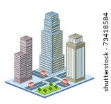 perspective view of the urban... | Shutterstock .eps vector #73418584