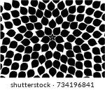 black petal background pattern. ... | Shutterstock .eps vector #734196841