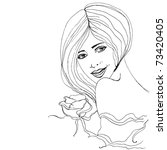 vector illustrated beautiful... | Shutterstock .eps vector #73420405
