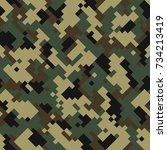 digital camouflage seamless... | Shutterstock .eps vector #734213419