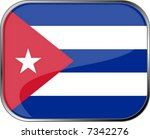 cuba flag icon with official... | Shutterstock .eps vector #7342276