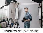 professional photographer... | Shutterstock . vector #734246809